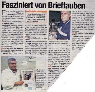 "Bericht im ""Kurz & Bündig"""
